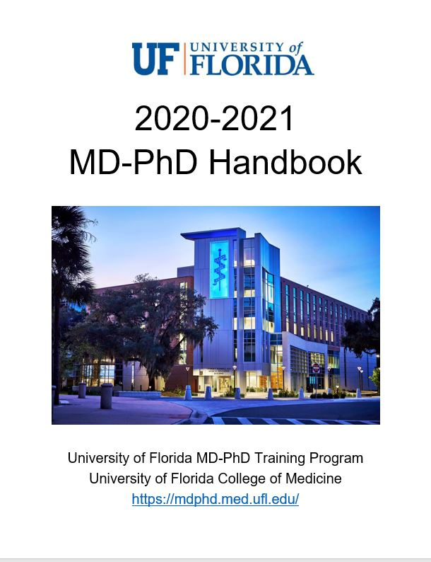 MD-PhD HANDBOOK COVER PAGE